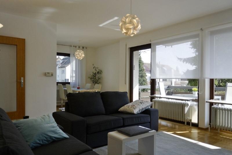 Modern möblierte Drei-Zimmer-Wohnung mit Balkon in S-Degerloch